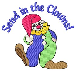 Send In The Clowns embroidery design