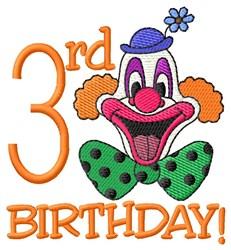 3rd Birthday embroidery design