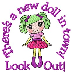 Look Out embroidery design