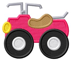 Pink Four Wheeler embroidery design