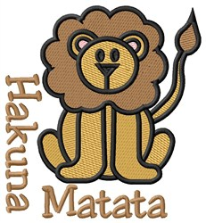 Hakuna Matata embroidery design