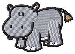 Little Hippo embroidery design
