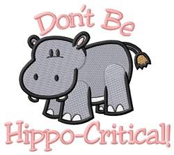 Hippo-Critical embroidery design