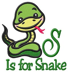 S is for Snake embroidery design