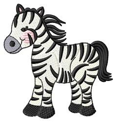 Stripped Zebra embroidery design