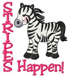 Stripes Happen embroidery design