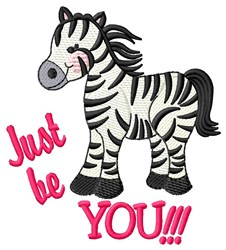 Just Be You embroidery design