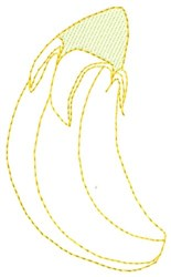 Banana embroidery design