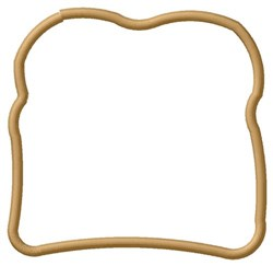 Bread Slice embroidery design