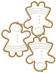Gingerbread Girls embroidery design