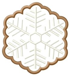 Snowflake Cookie embroidery design