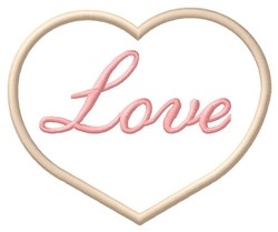 Love Cookie embroidery design