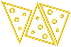 Swiss Cheese Triangles embroidery design
