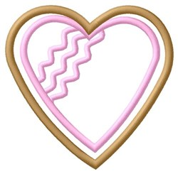Heart Cookie embroidery design
