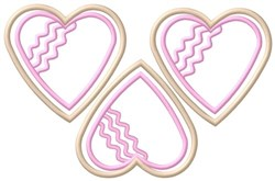Heart Cookies embroidery design