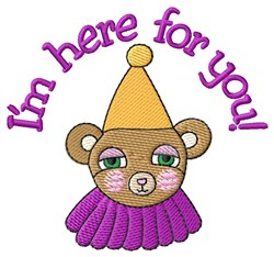 Here For You! embroidery design