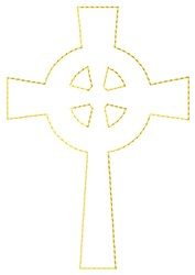 Celtic Cross Outline embroidery design