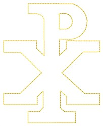 Chi Rho Outline embroidery design