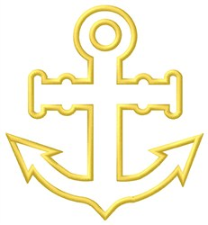 Outline Anchor embroidery design