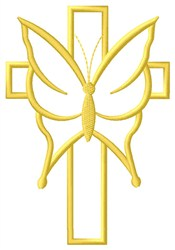 Butterfly Cross Border embroidery design