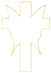 Butterfly Cross Outline embroidery design