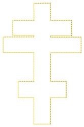 Byzantine Cross Outline embroidery design