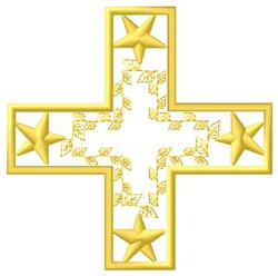 Greek Star Cross embroidery design
