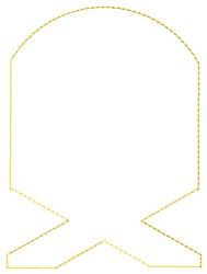Manger Outline embroidery design