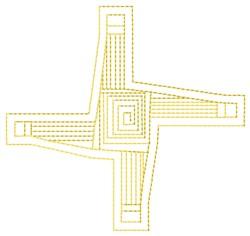 St. Brigids Cross Fill embroidery design