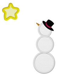 Snowman And Star embroidery design