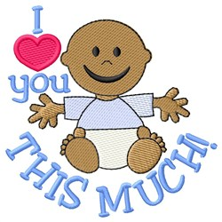 Love You Boy embroidery design