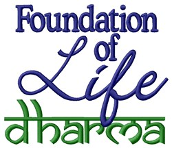 Foundation of Life embroidery design