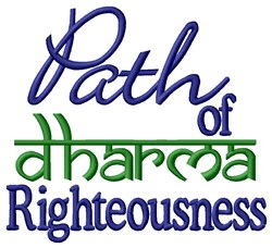 Path of Righteousness embroidery design