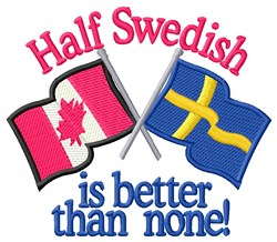 Half Swedish Flags embroidery design
