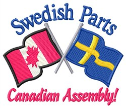 Swedish Parts Flags embroidery design