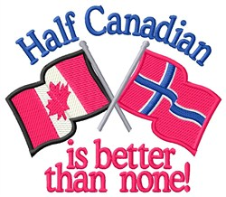 Half Canadian Flags embroidery design