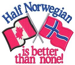 Half Norwegian Flags embroidery design