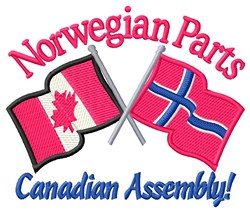 Norwegian Parts Flags embroidery design