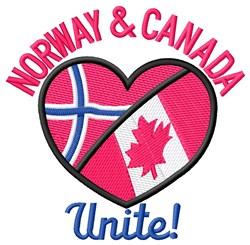 Norway & Canada Unite embroidery design