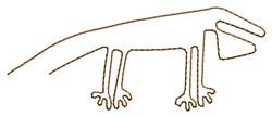 Nazca Lines Lizard embroidery design