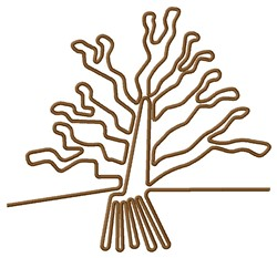 Nazca Lines Tree embroidery design