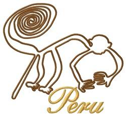 Peru Nazca Lines Monkey embroidery design