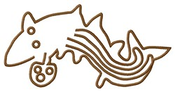 Nazca Lines Whale embroidery design