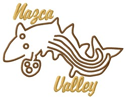 Nazca Valley Lines Whale embroidery design