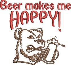 Happy Beer embroidery design