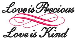 Love is Precious embroidery design
