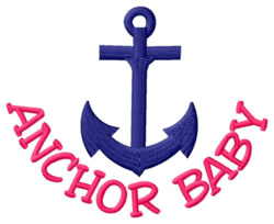 Anchor Baby embroidery design