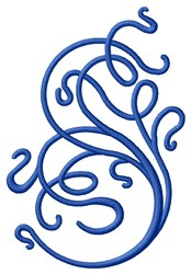 Blue Curls embroidery design