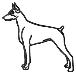 Doberman Pinscher (F) Outline embroidery design