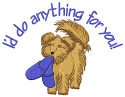 Do Anything embroidery design